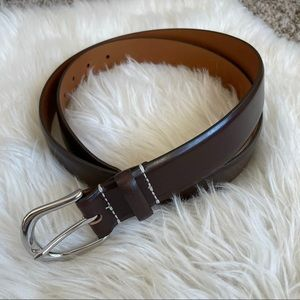 J. Crew Men's Italian Leather Brown Belt Size 38